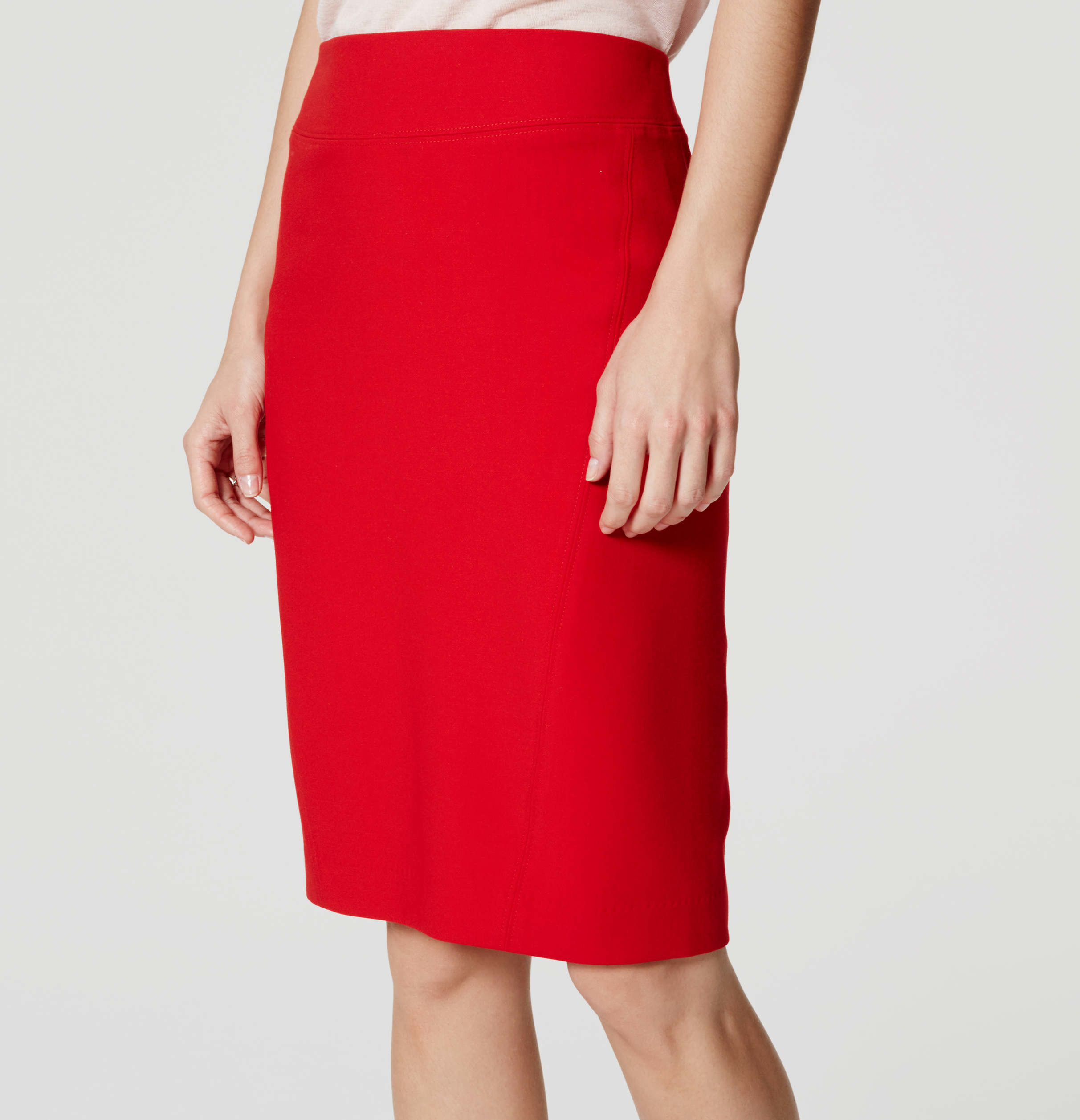 Loft Seamed Scuba Pencil Skirt