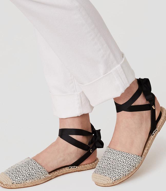 Loft Diamond Ankle Tie Espadrilles In Black Lyst