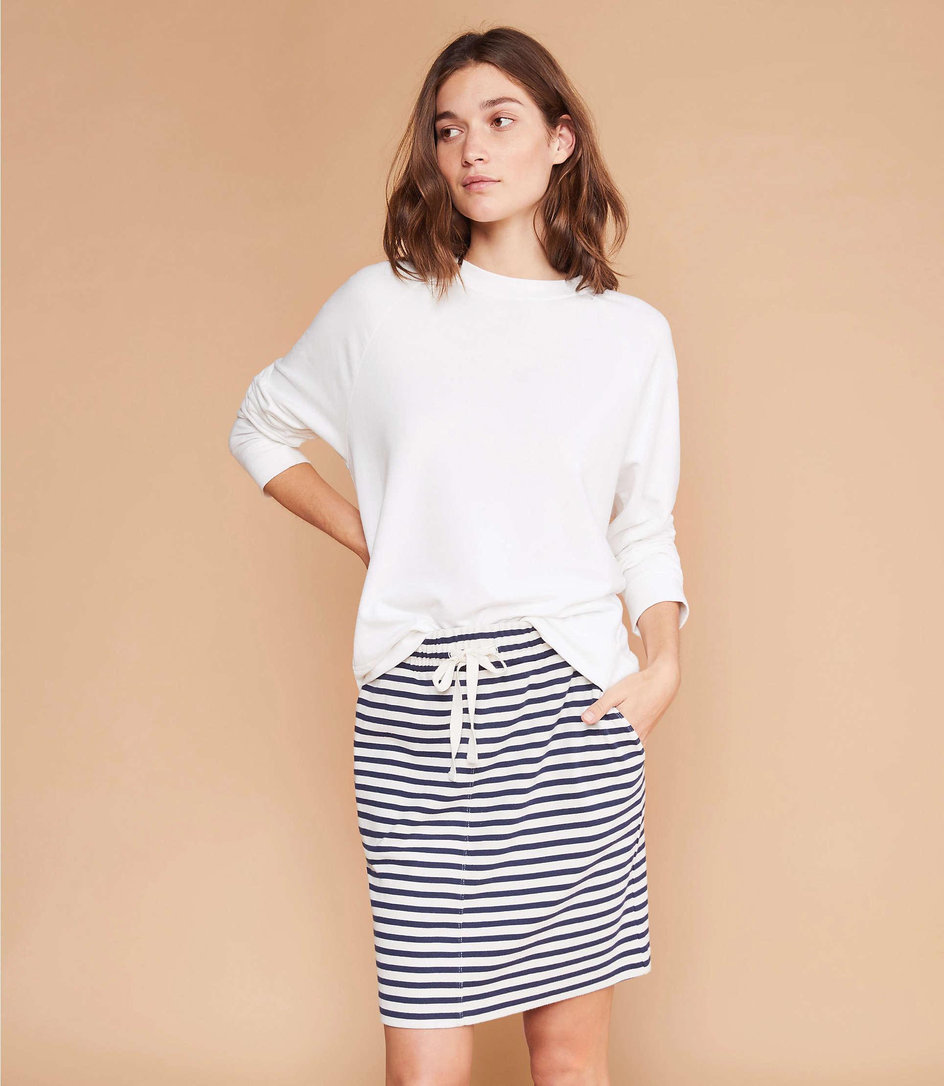 35a35a92f0 LOFT Lou & Grey Signaturesoft Sweatshirt in White - Lyst