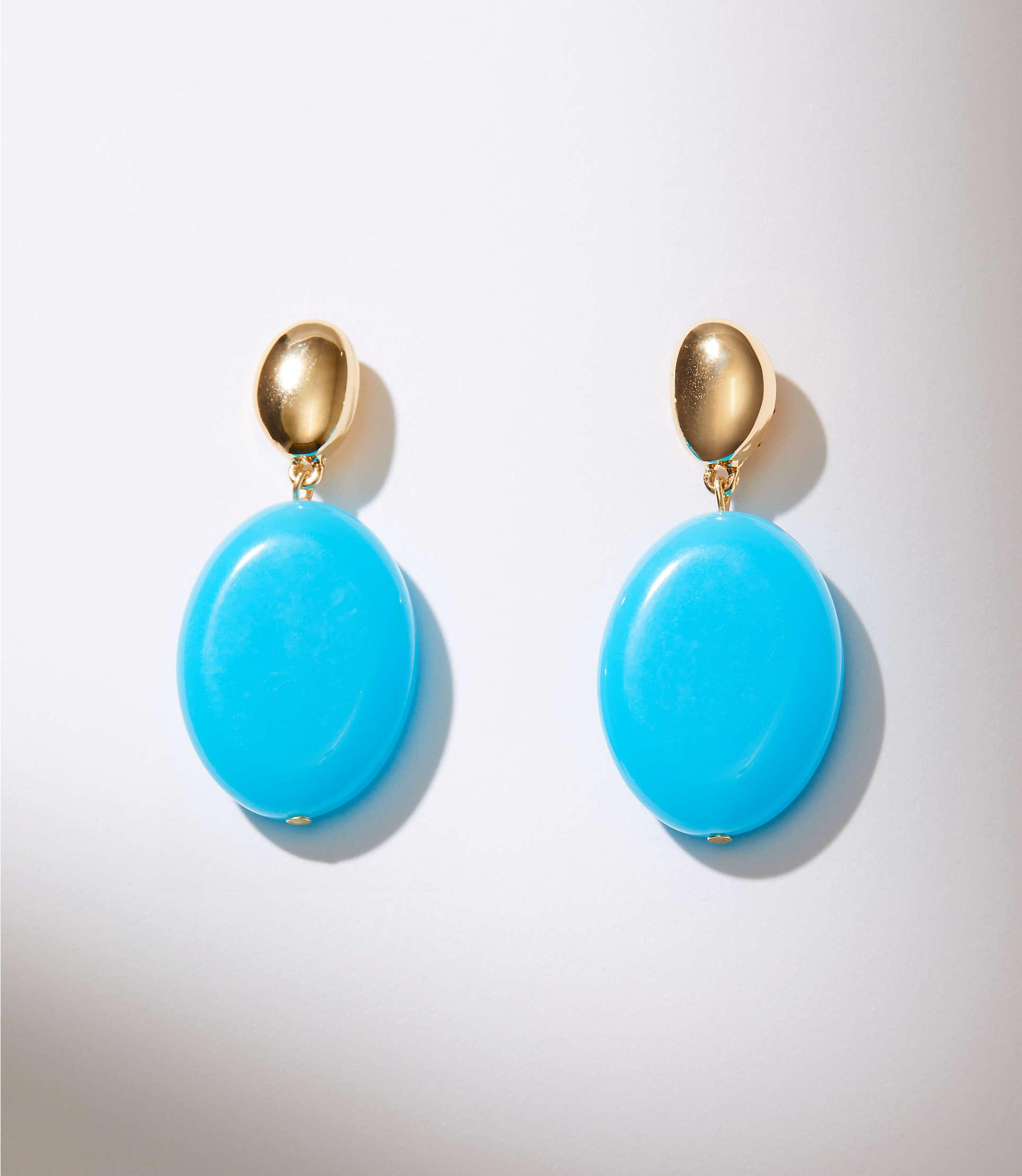 c6f72a4b2 Gallery. Previously sold at: LOFT · Women's Blue Earrings ...