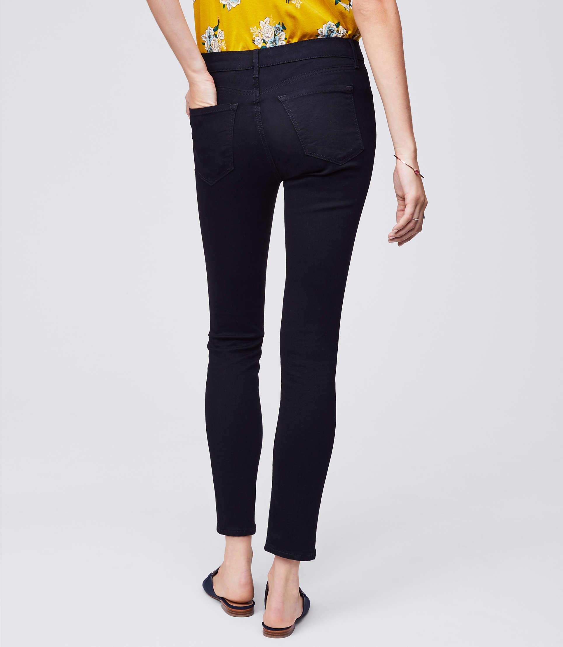 LOFT Denim Skinny Jeans In Black