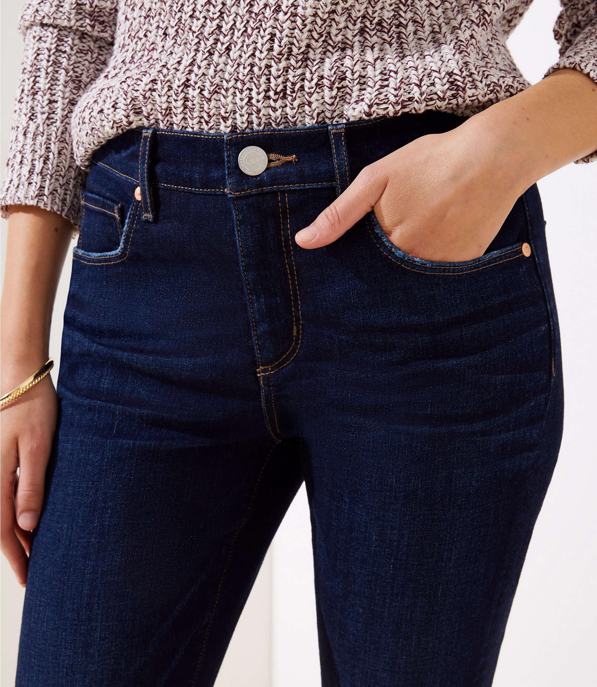 31a11b851490 ... Curvy Slim Pocket Skinny Jeans In Dark Indigo Wash - Lyst. View  fullscreen