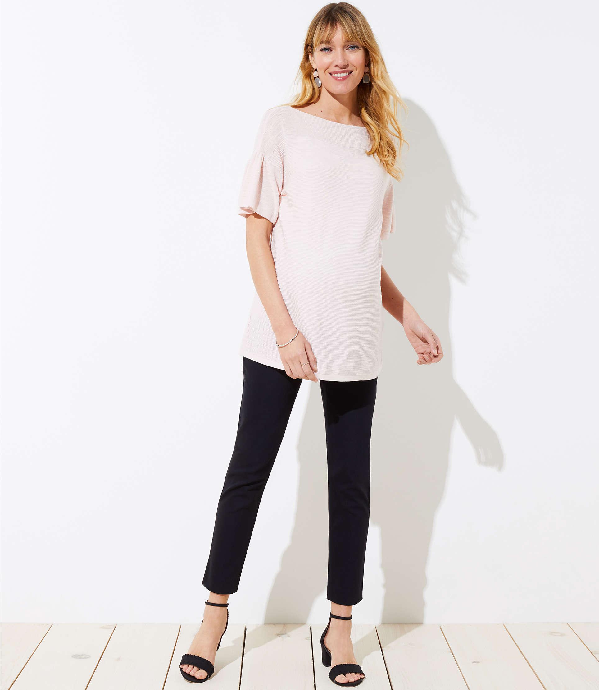 4715e85cf721e LOFT. Women's Black Petite Maternity Skinny Ankle Trousers