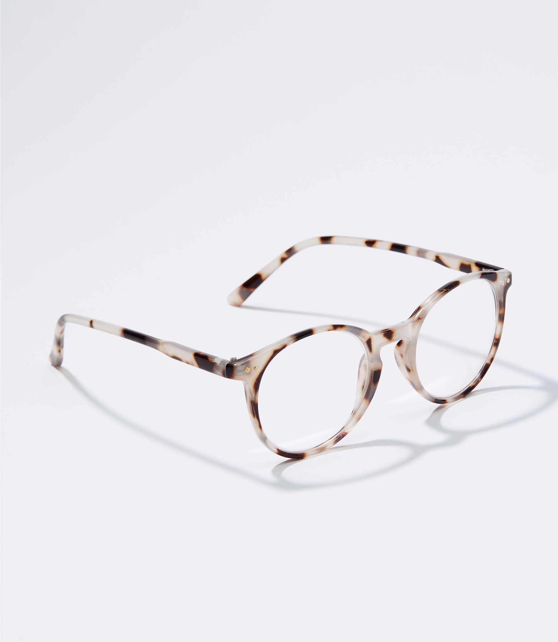 63c2b5e084 LOFT. Women s Tortoiseshell Print Round Reading Glasses