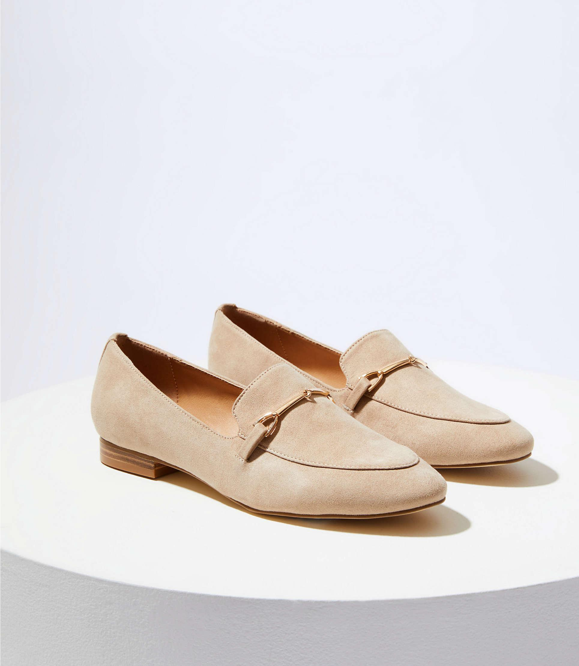 663e087d8ba8 Lyst - LOFT Modern Loafers in Natural