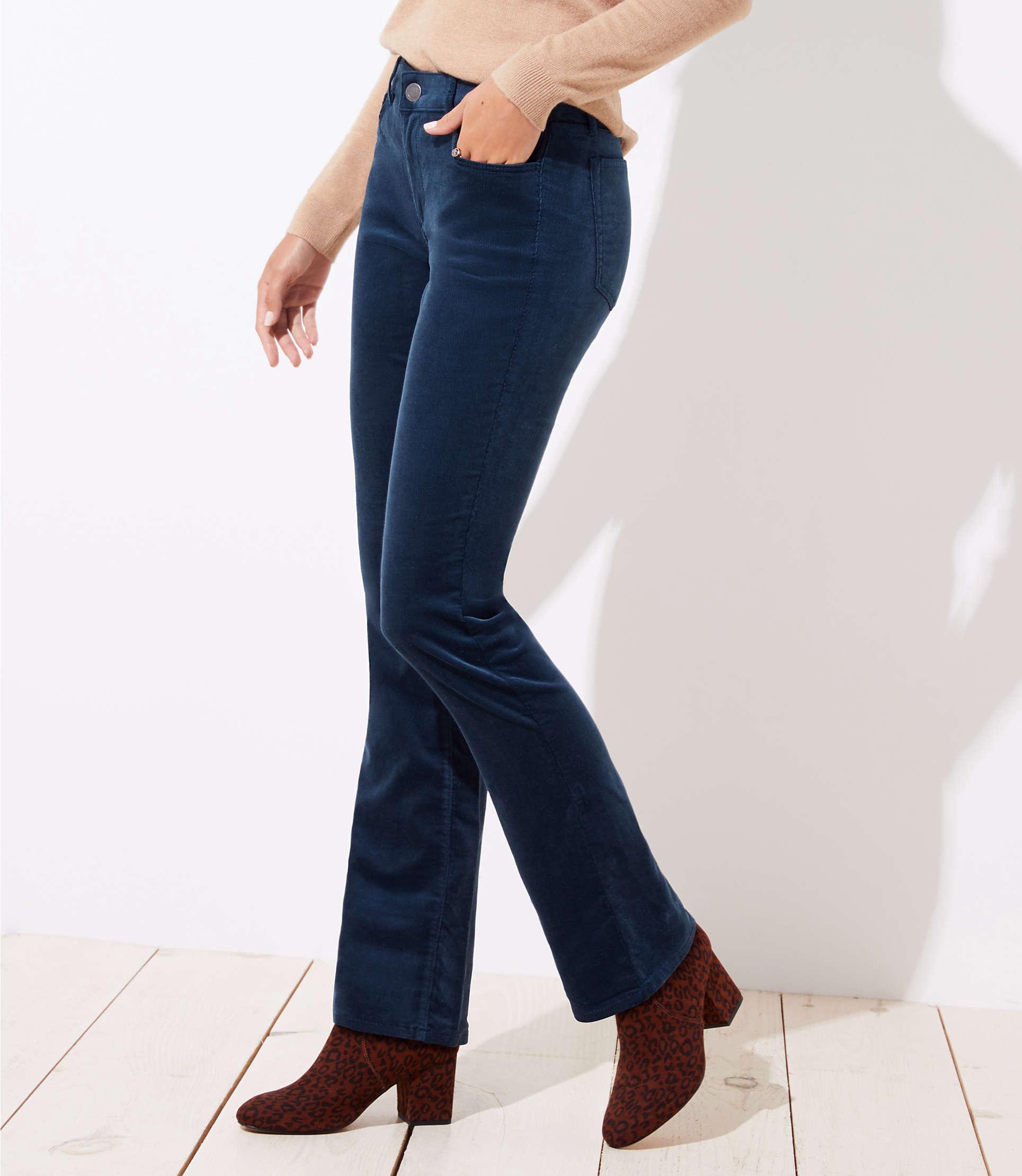 694e66283c13e LOFT Curvy Bootcut Corduroy Pants in Blue - Lyst