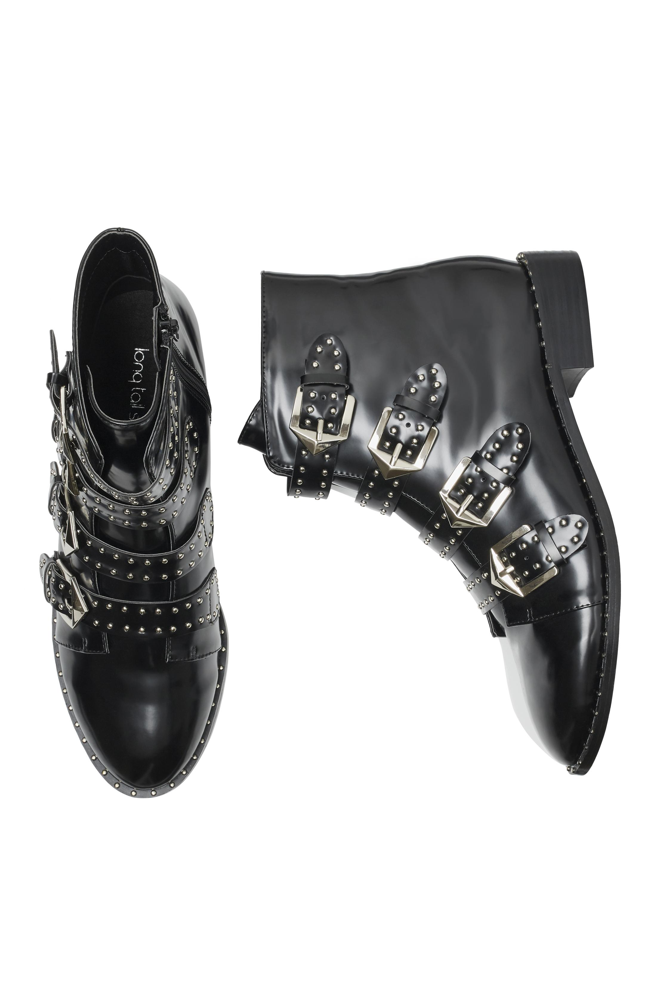 34b74d997a6 Long Tall Sally Large Size Lts Storm Studded Ankle Boot in Black - Lyst