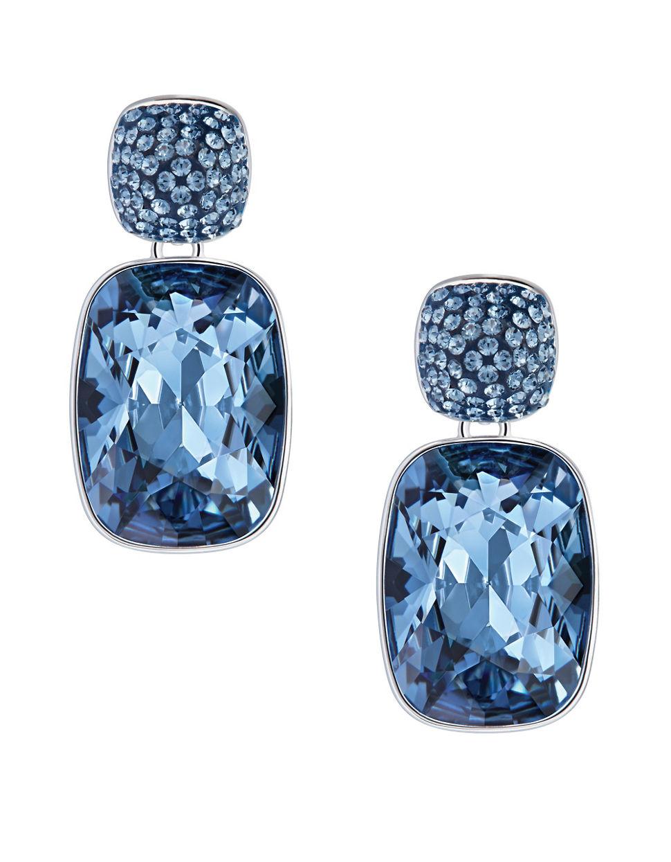 Blue Swarovski Crystal Earrings Empire Drop In Lyst