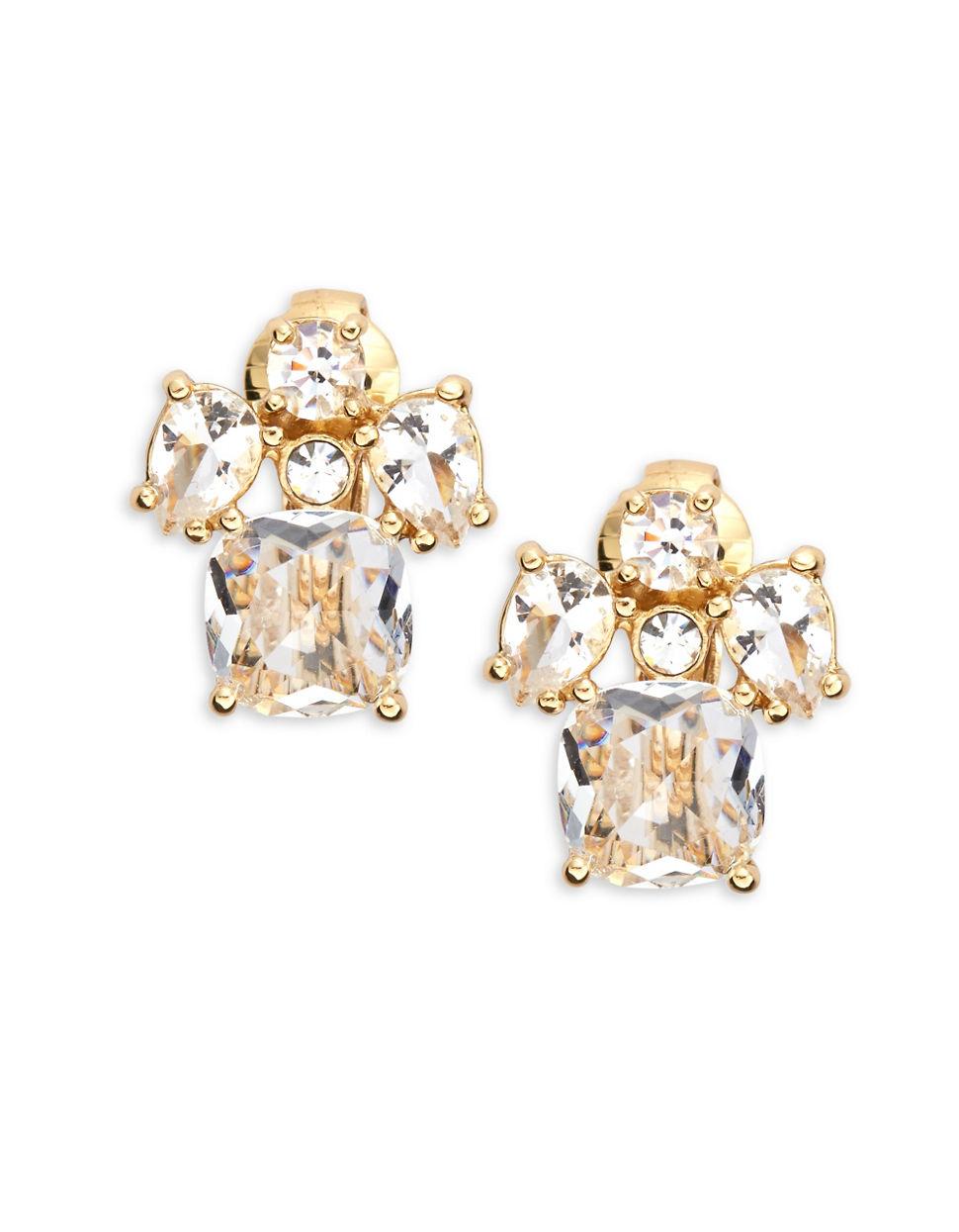 kate spade make me blush cluster clip on earrings