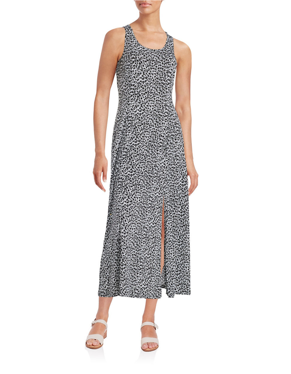 Michael Kors Laukut Pori : Michael kors geometricprint maxi dress in black lyst
