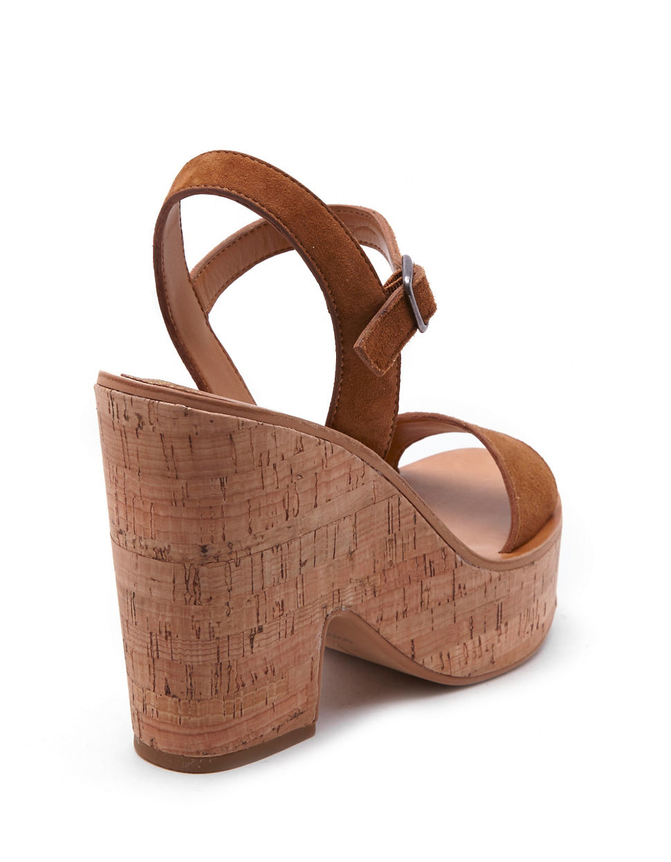 dolce vita randi suede platform sandals in brown lyst