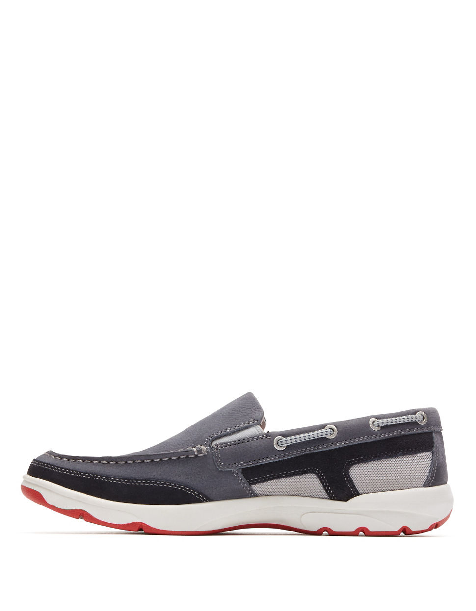 rockport cshore slip on shoes in gray for lyst