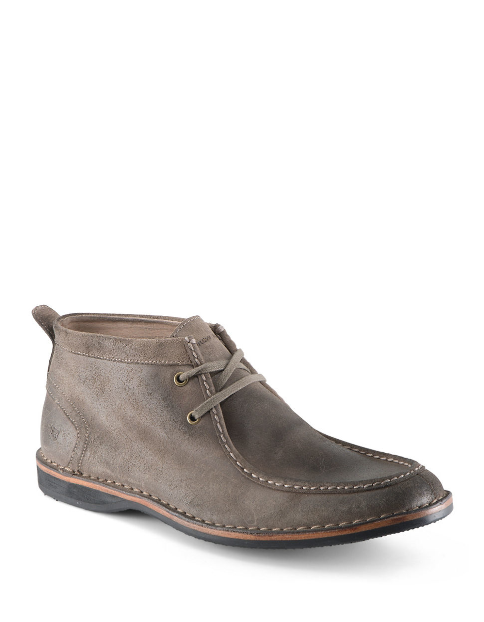 andrew marc dorchester suede moccasin boots in multicolor