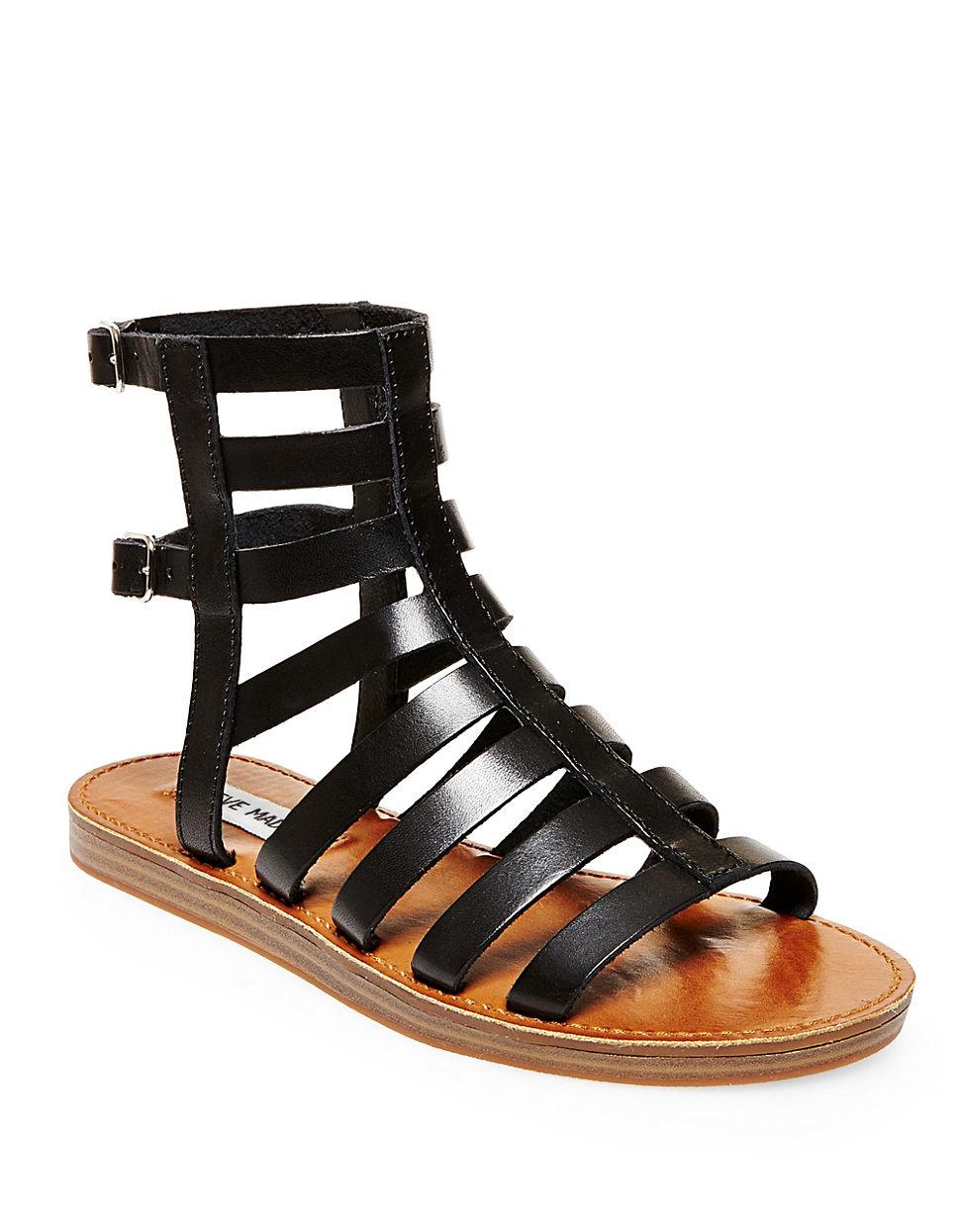 steve madden beeast gladiator sandals in black lyst. Black Bedroom Furniture Sets. Home Design Ideas