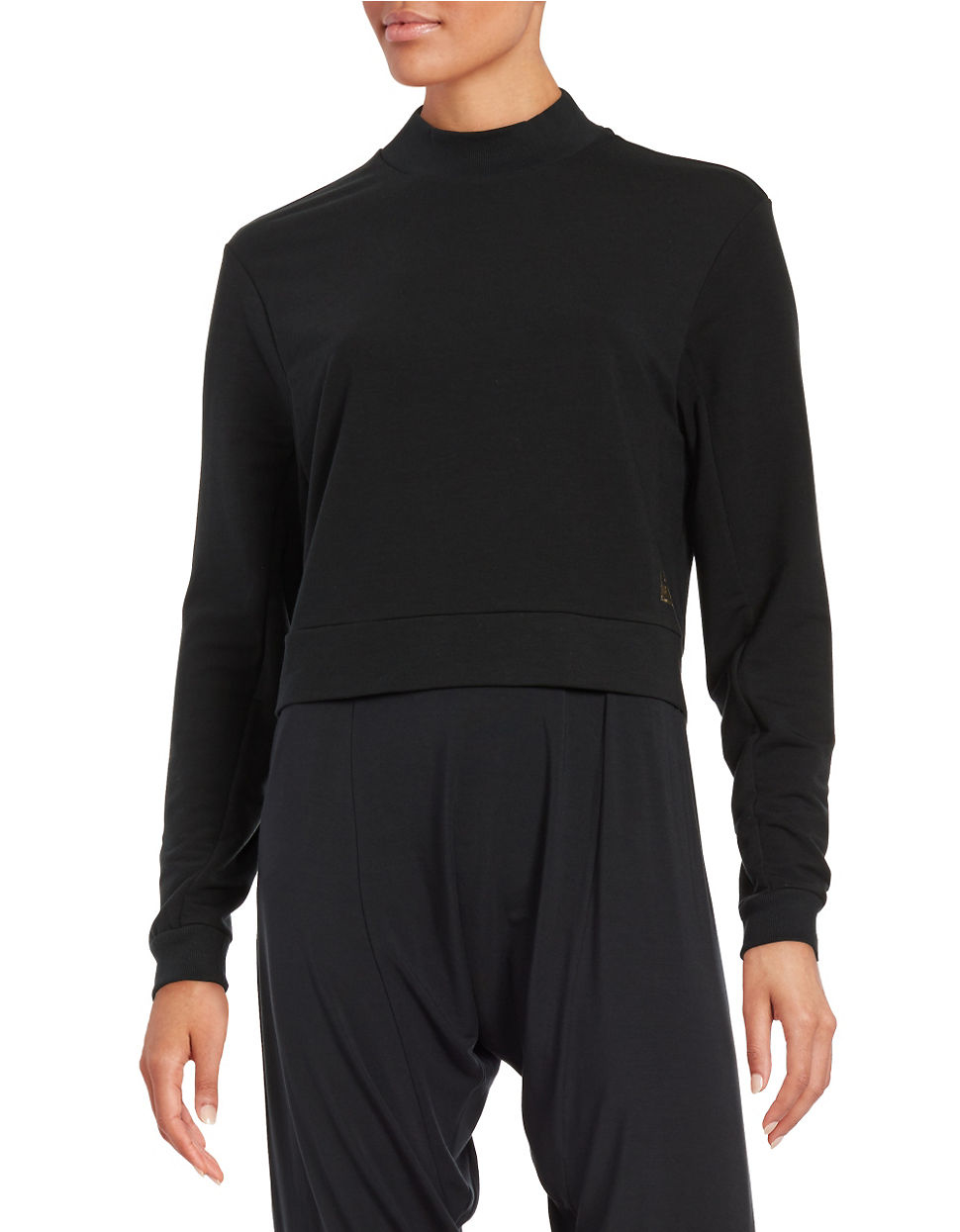 Bench Jess Glynne Cropped Active Sweater In Black For Men
