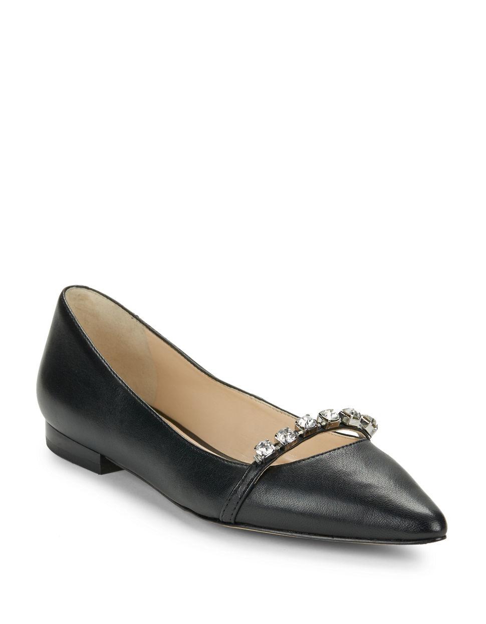 Karl Lagerfeld Colette Gemstone Flats In Black Lyst