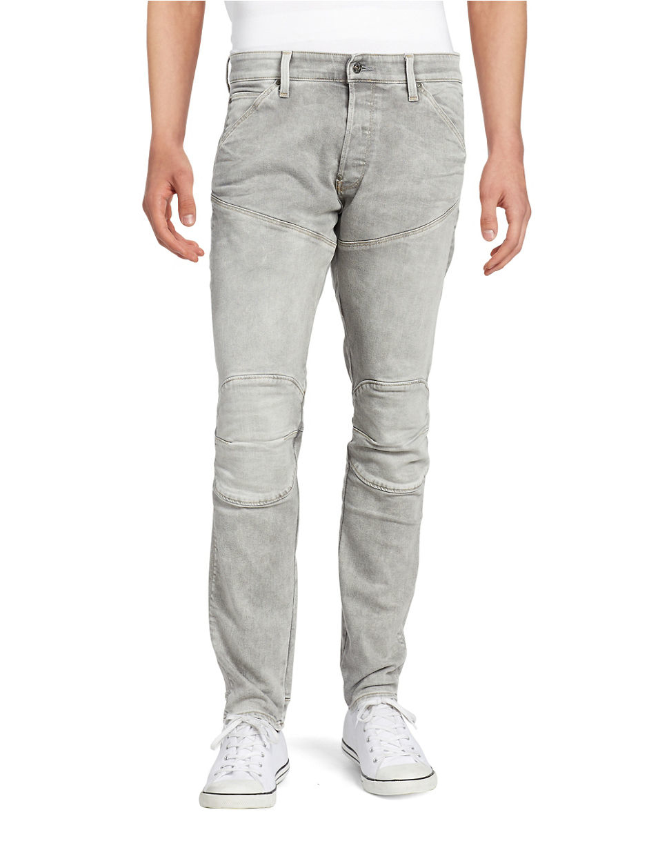 g star raw tapered straight leg jeans in gray for men lyst. Black Bedroom Furniture Sets. Home Design Ideas