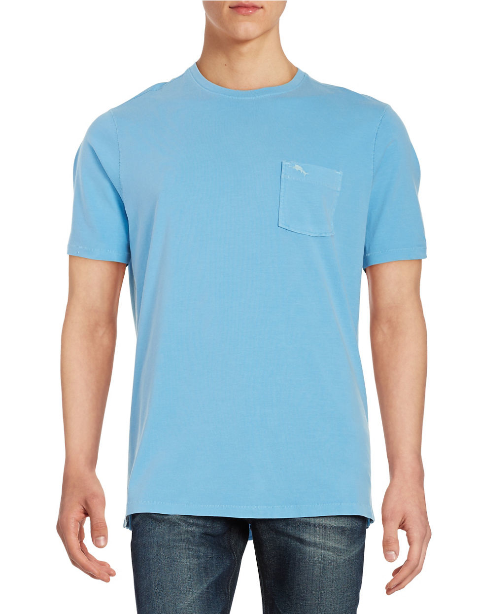 Lyst Tommy Bahama Cotton Pocket Tee In Blue For Men