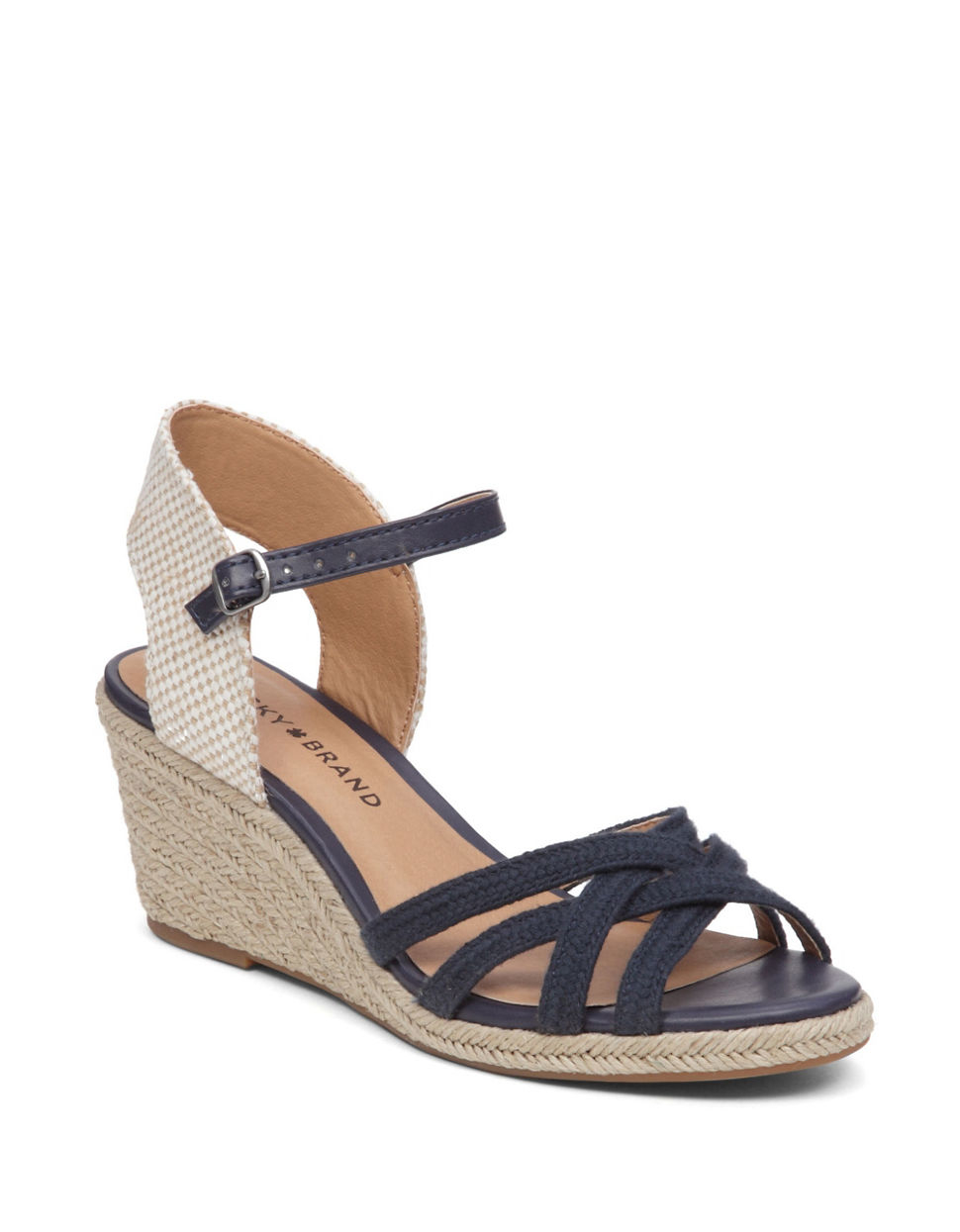 Lucky Brand Kalley3 Espadrille Wedge Sandals In Blue Lyst