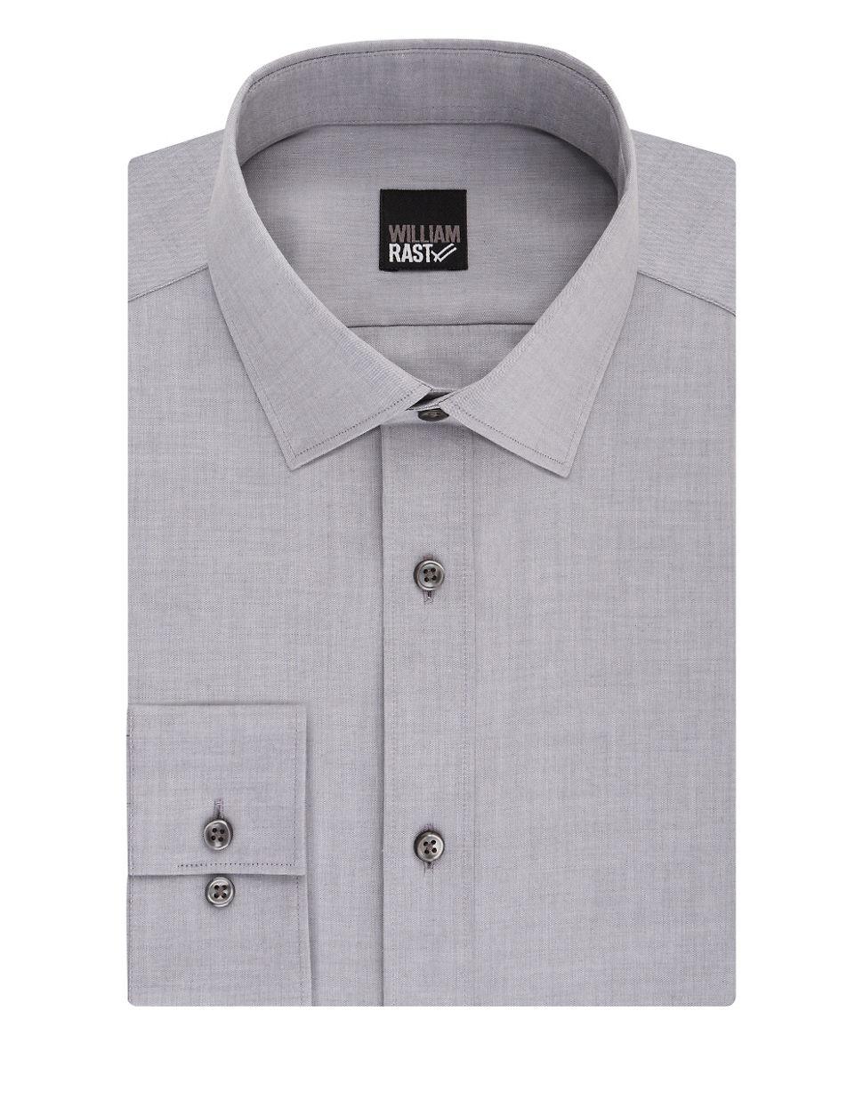 William Rast Slim Fit Dress Shirt In Gray For Men Lyst