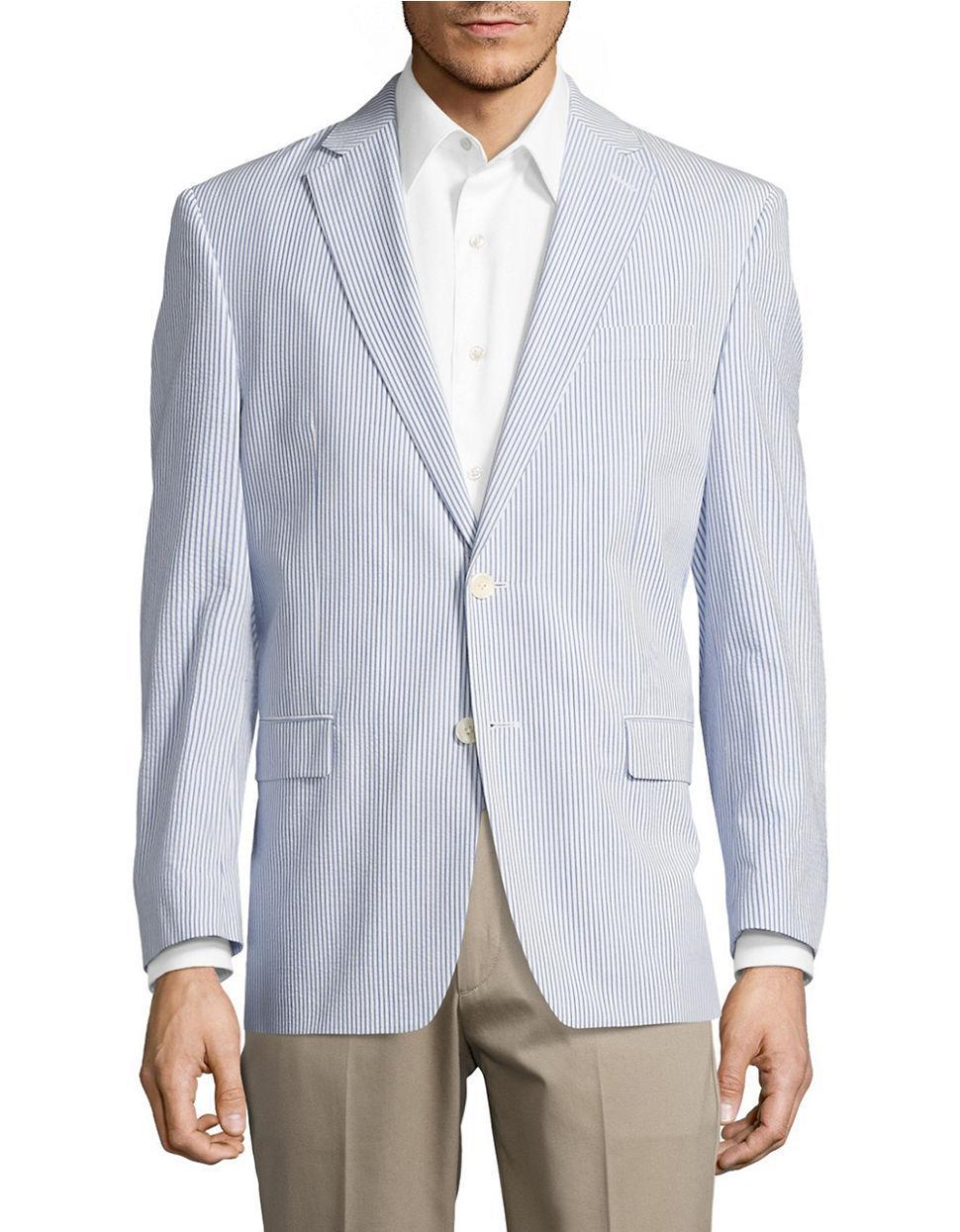 Lauren by ralph lauren Seersucker Suit Jacket in Blue for ...