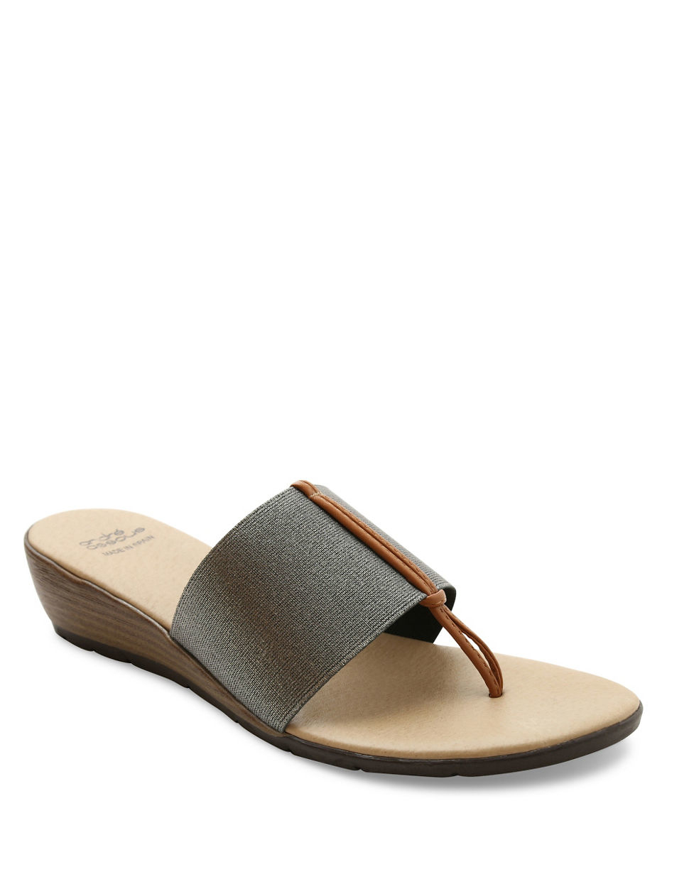 Andre assous Nima Wedge Sandals in Brown
