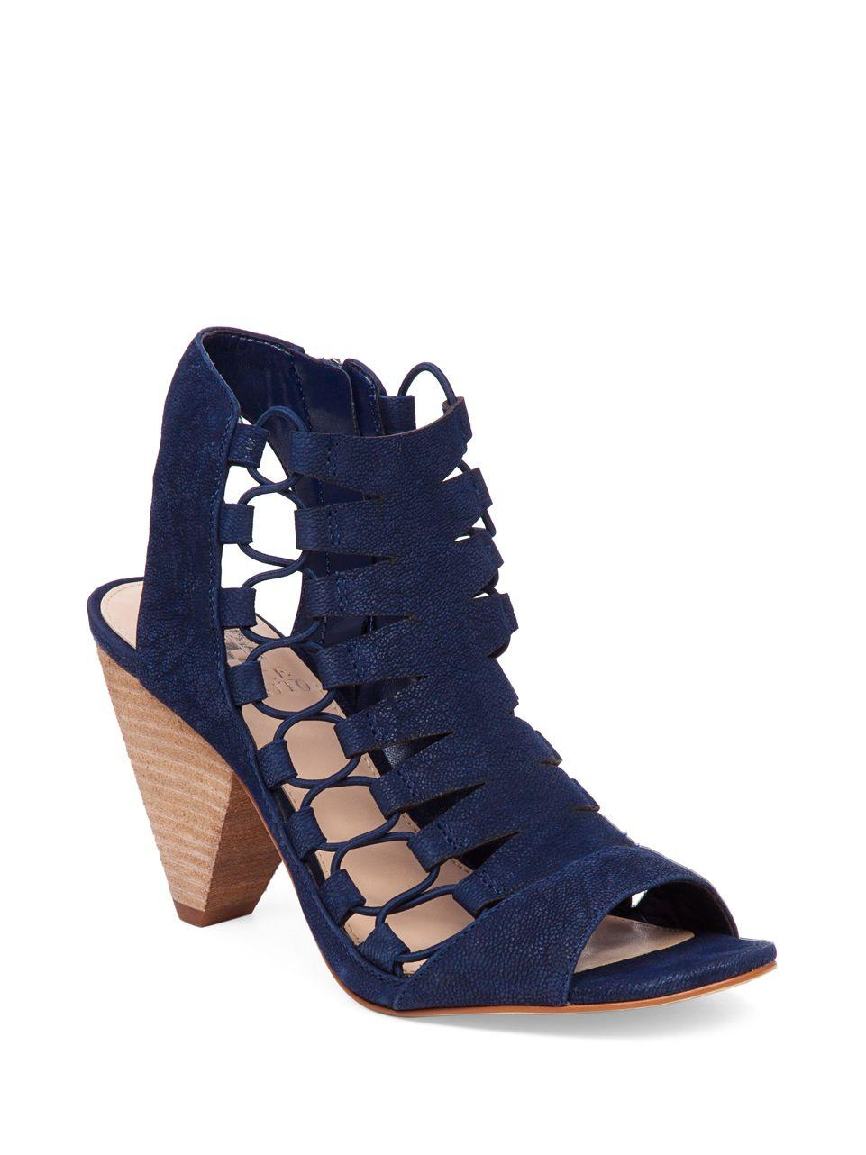 Vince Camuto Leather Eliaz Gladiator Dress Sandals In Blue