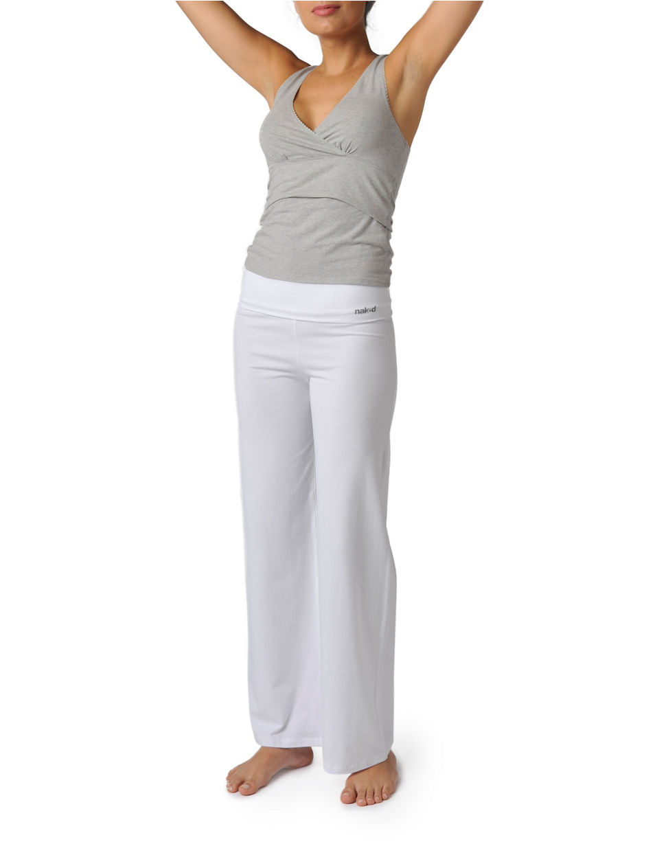 Naked Yoga Pants In White  Lyst-2581
