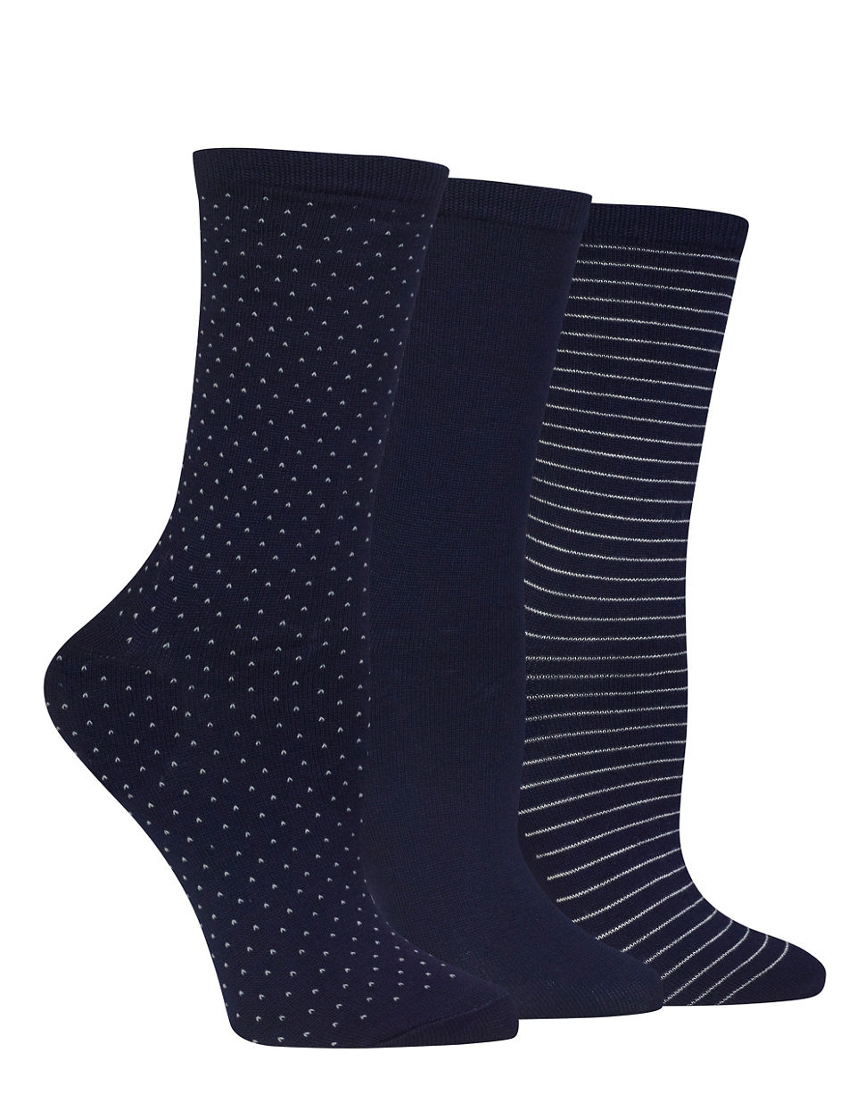 Hot Sox Printed Three Pack Trouser Socks In Blue For Men | Lyst