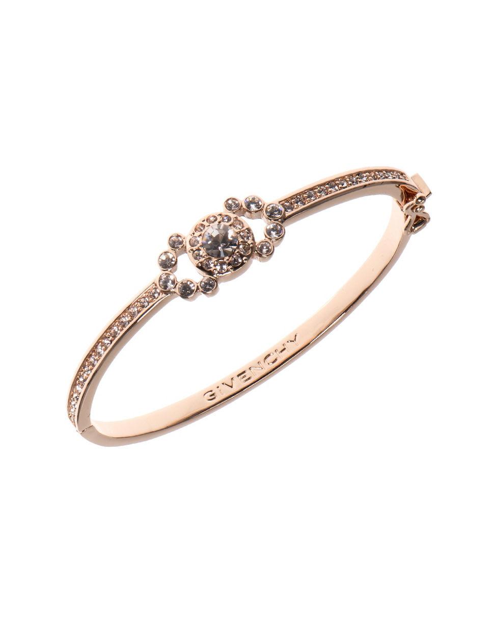 Givenchy Crystal Studded Bangle Bracelet In Metallic Lyst