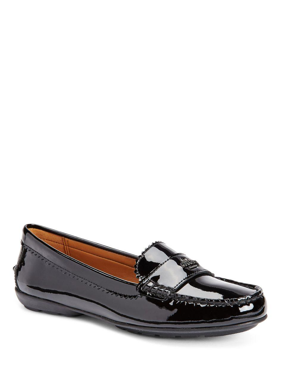 Lyst Coach Odette Patent Leather Loafers In Black