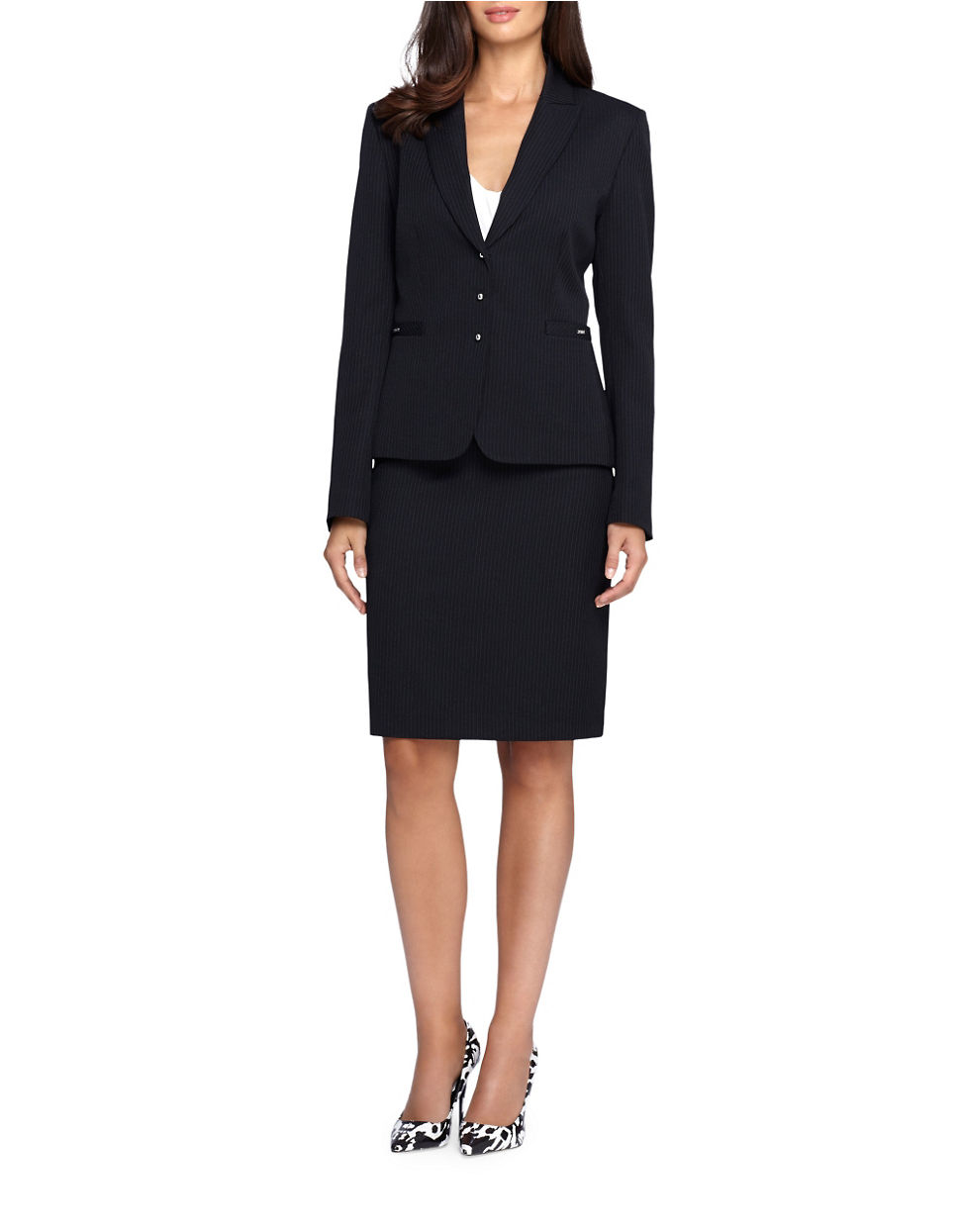 Black Pinstriped Suit 29