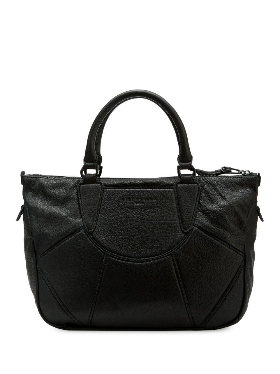 liebeskind berlin esther leather handbag in black lyst. Black Bedroom Furniture Sets. Home Design Ideas