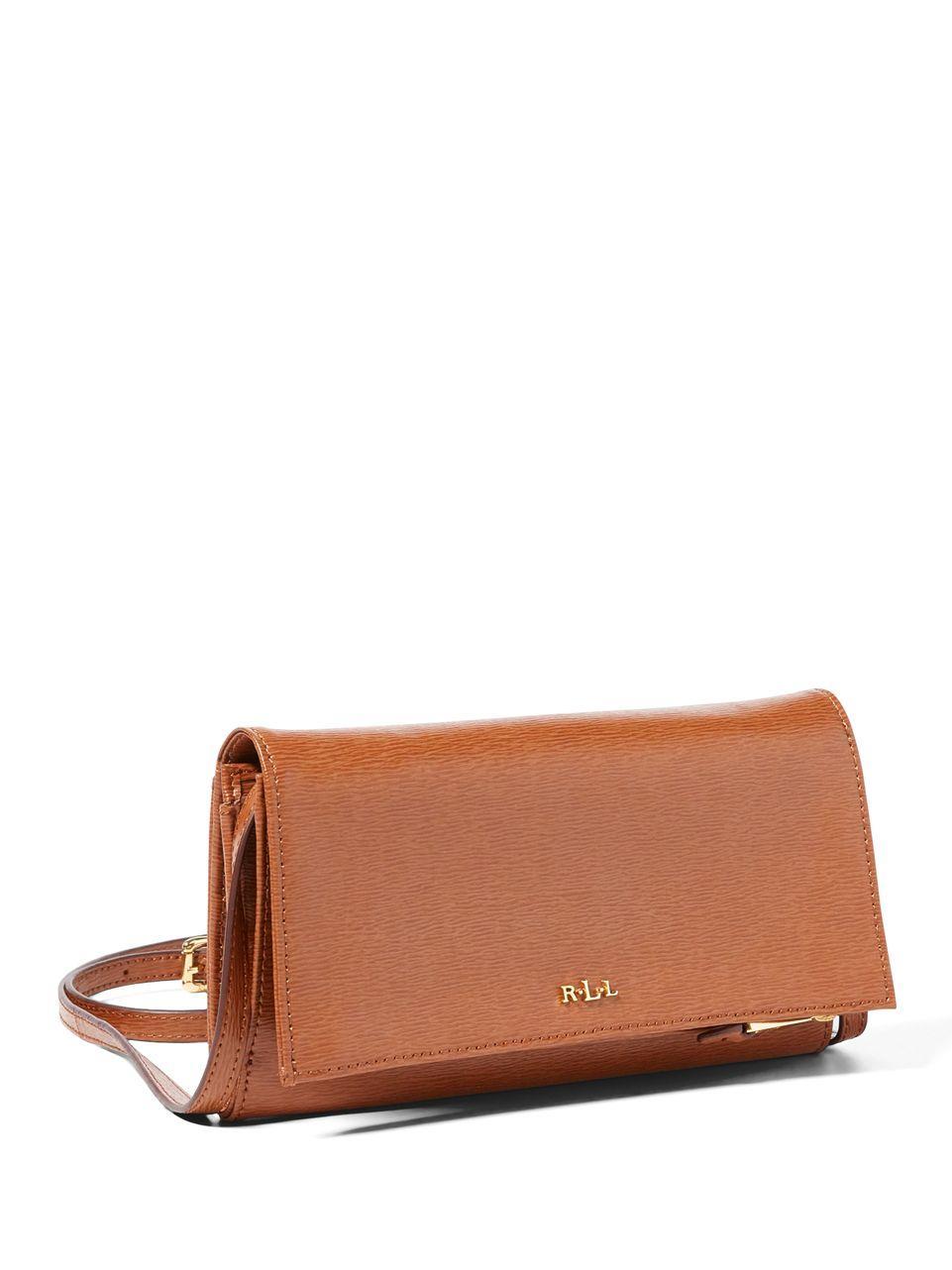 8824f88ee17e Lyst - Lauren by Ralph Lauren Newbury Mini Saffiano Leather ...