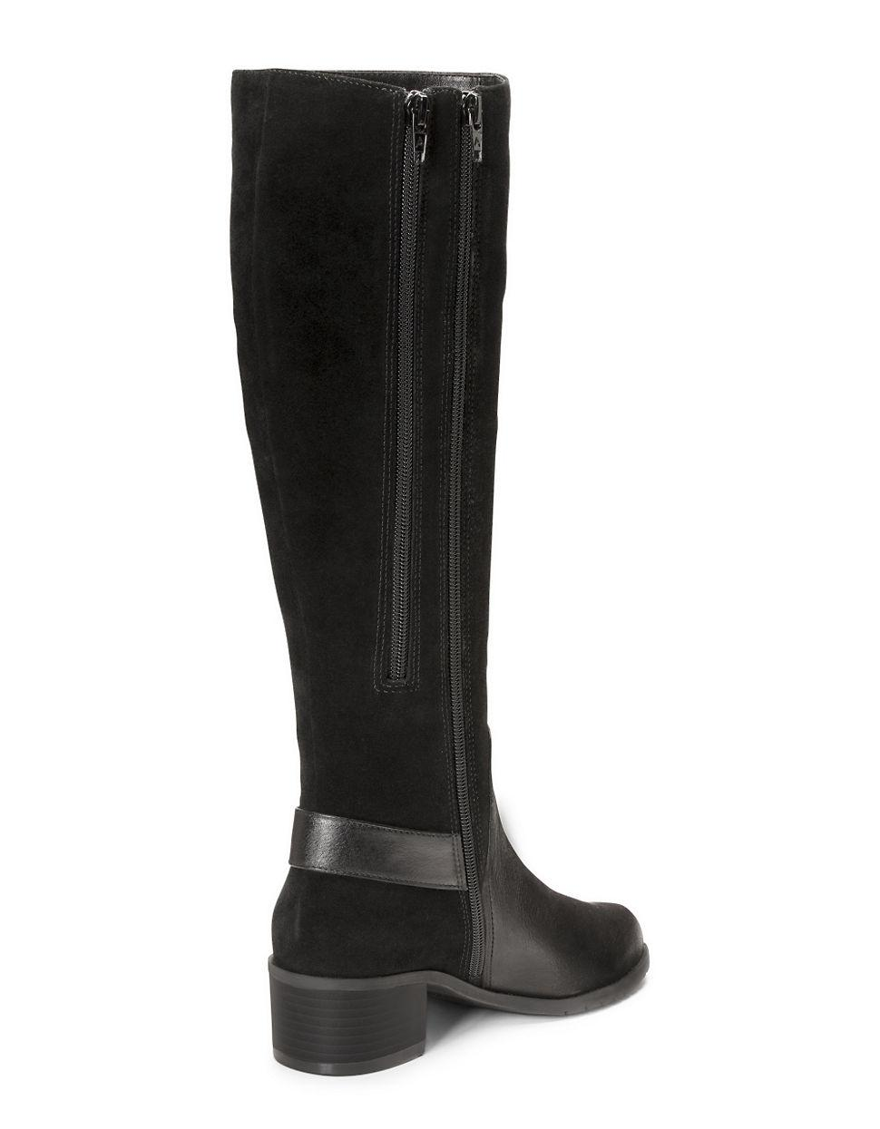 aerosoles after hours suede knee high boots in black lyst