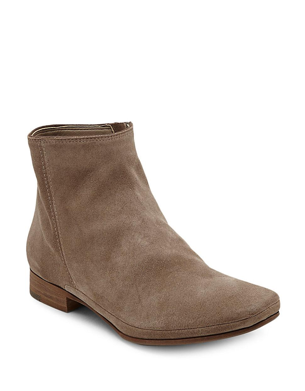 dolce vita taj suede ankle boots in brown lyst