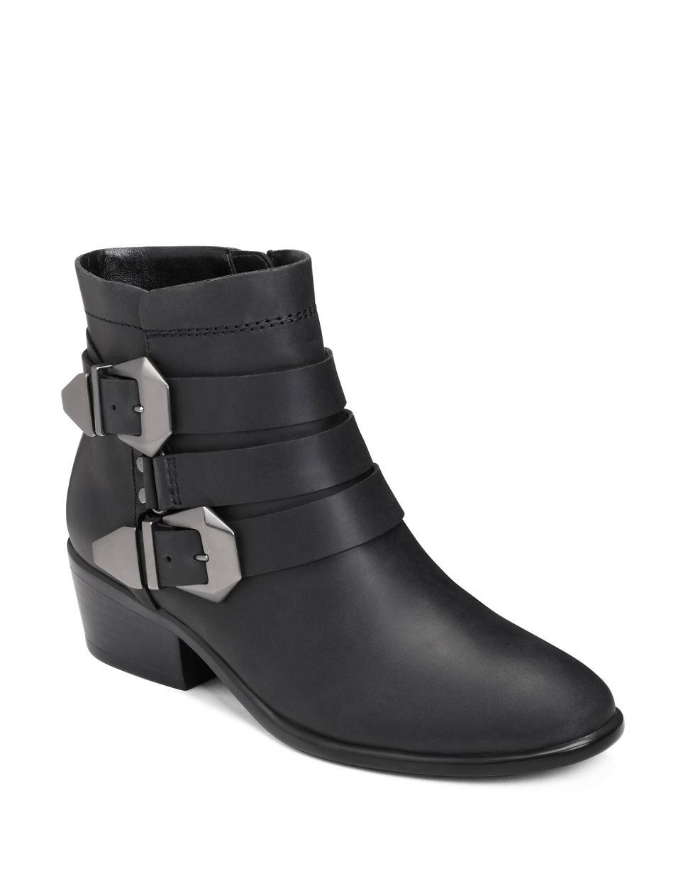 aerosoles my time leather ankle boots in black lyst