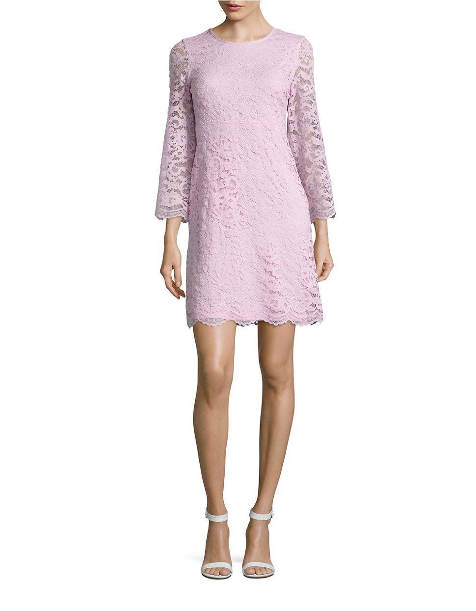 Ivanka trump Floral Lace Dress in Purple | Lyst