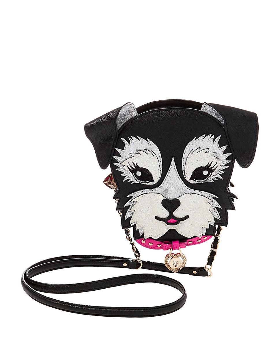 Betsey Johnson Fritzy Dog Crossbody Bag In Black Lyst