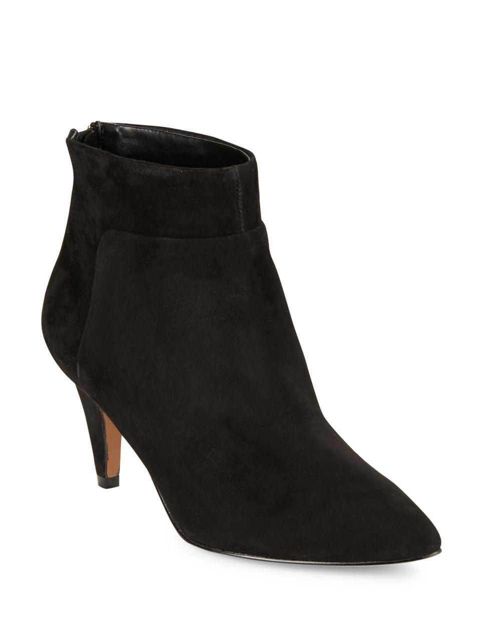 nine west jinxie suede ankle boots in black lyst