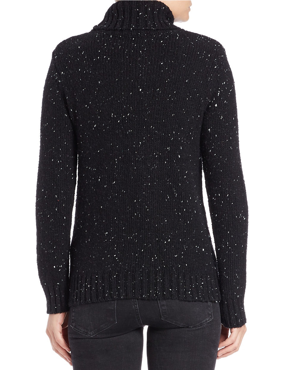 Lyst Lord Taylor Knit Turtleneck Sweater In Black