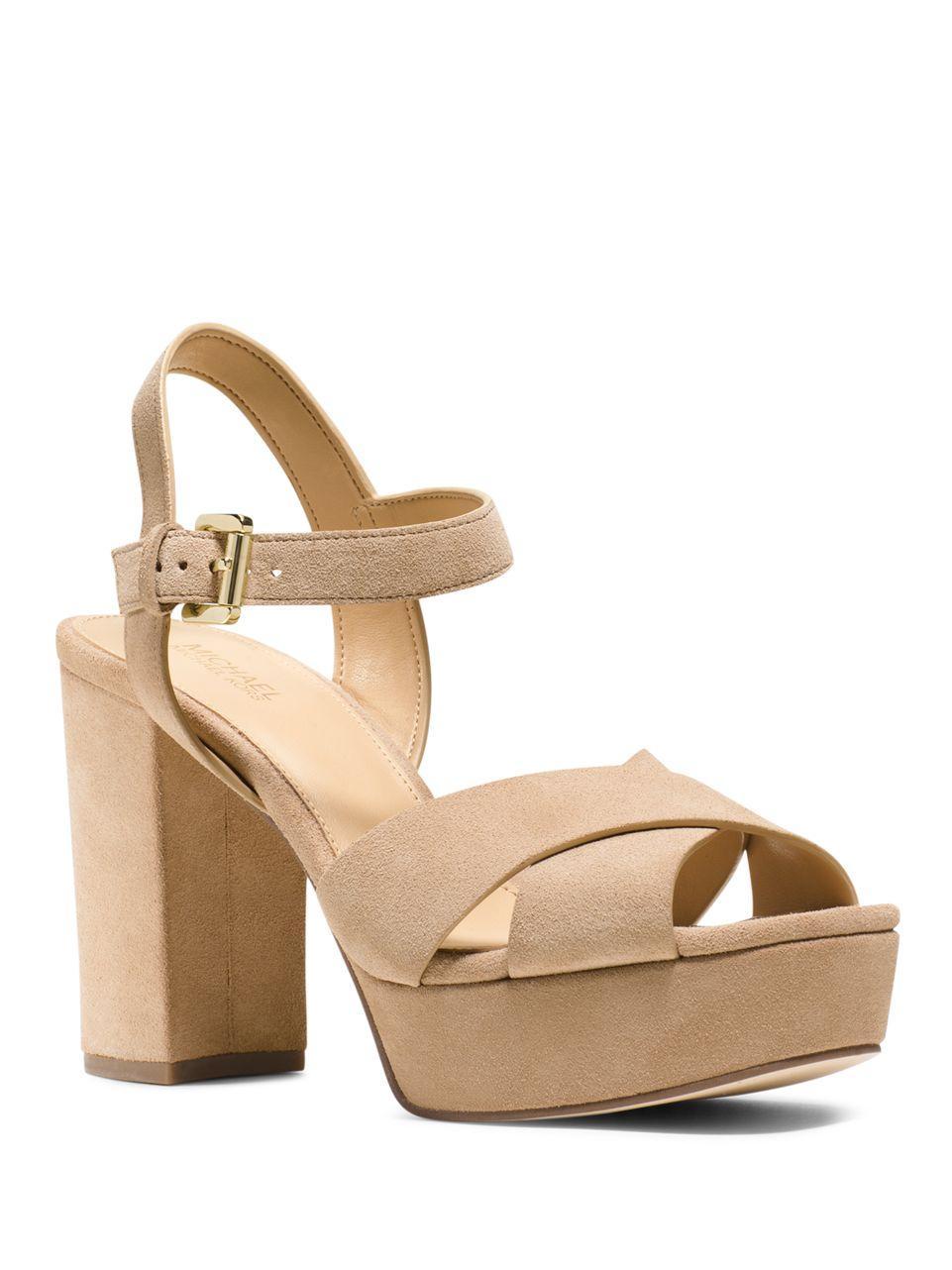 a51a58295833 Lyst - Michael Michael Kors Divia Suede Platform Sandals .