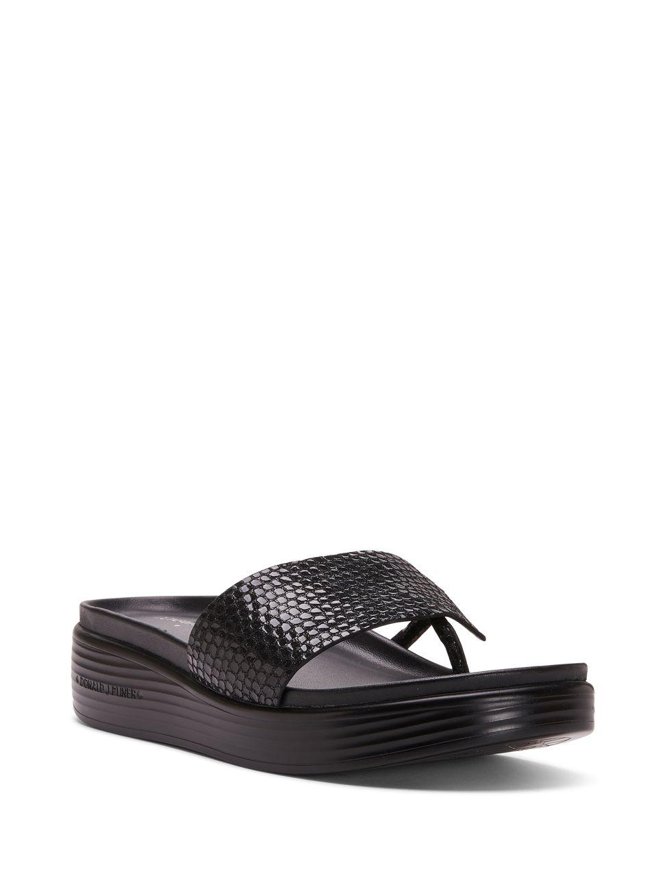 Donald J Pliner Fifi18 Platform Sandals In Black Lyst
