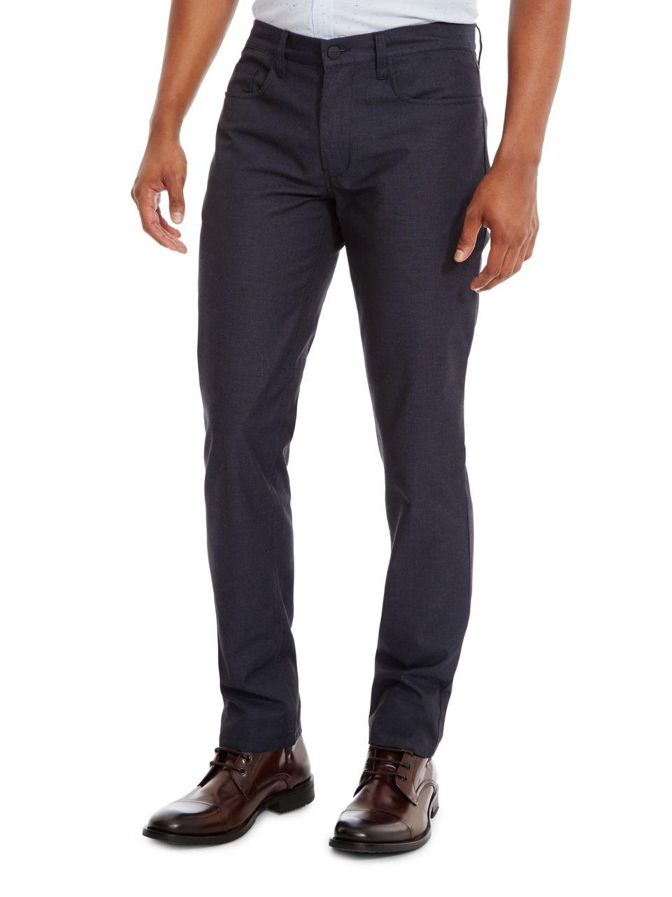 Lyst Kenneth Cole Slim Fit Five Pocket Pants In Blue