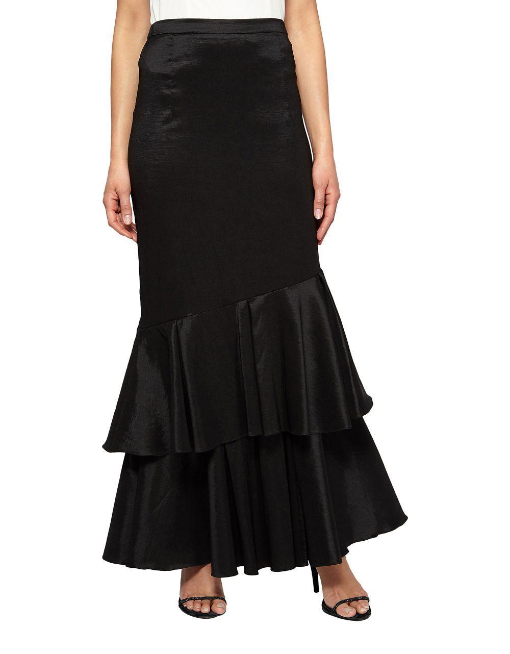 Lyst Alex Evenings Double Tier Skirt In Black