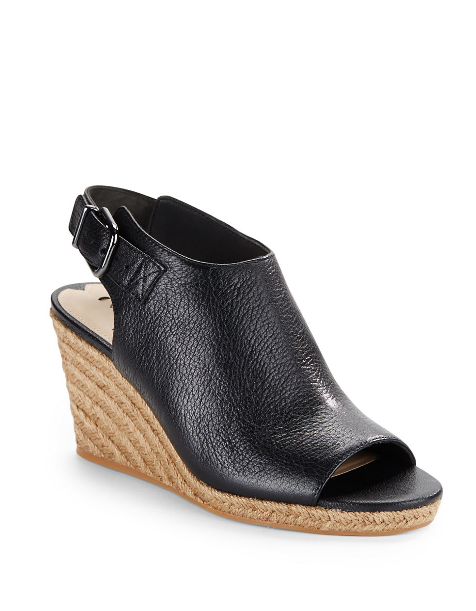 via spiga open toe espadrilles wedge sandals in black lyst