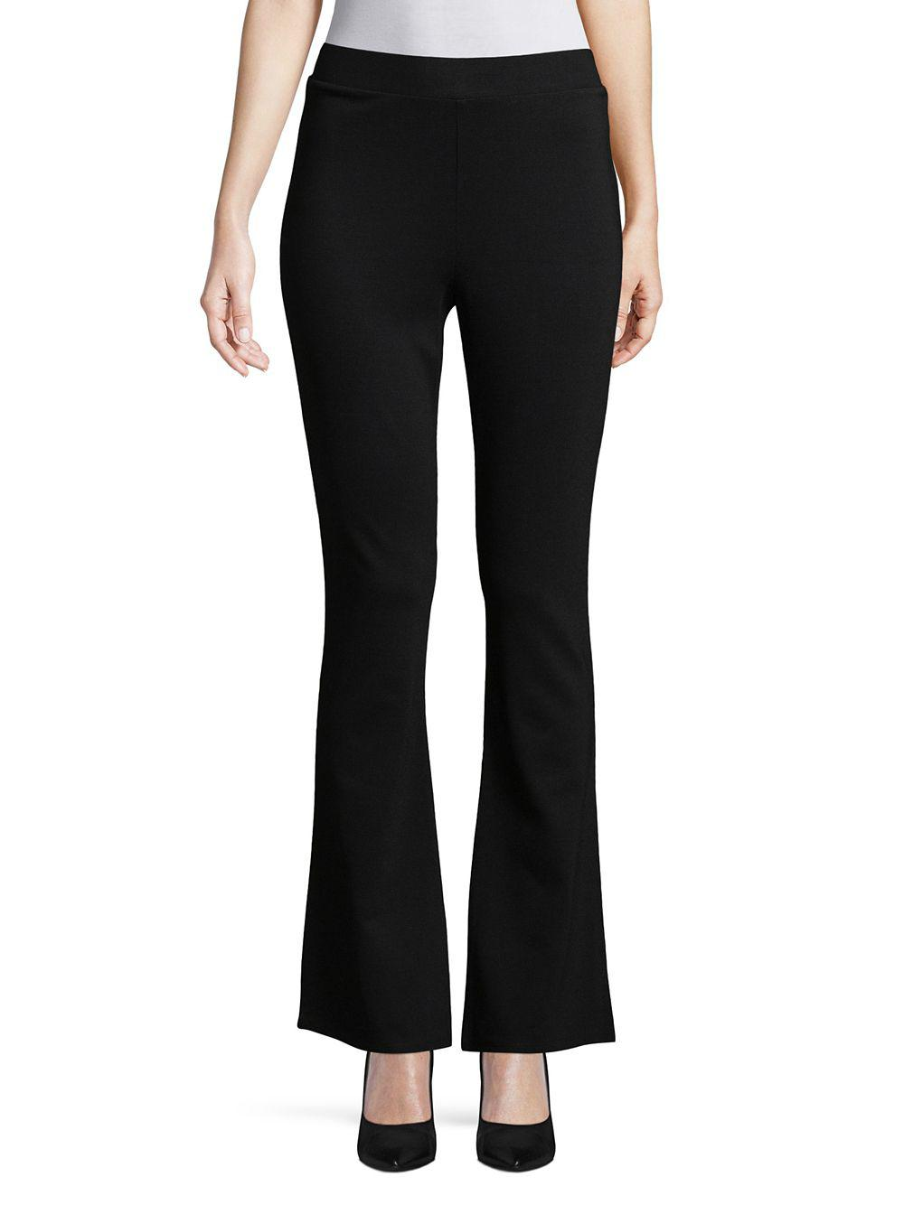 8ac74c042e Lyst - Vince Camuto Ponte Flare Leggings in Black