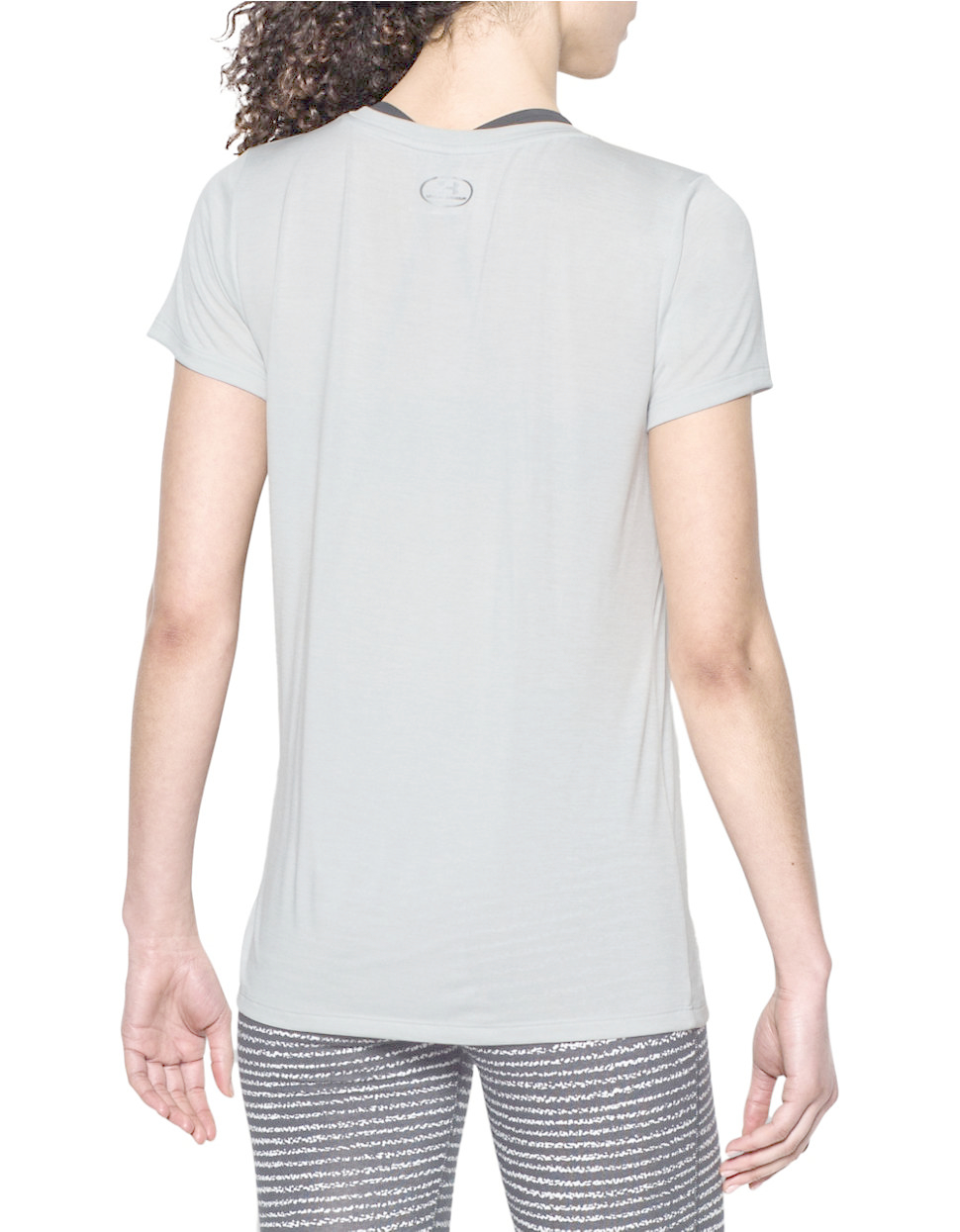 Under armour heather twist t shirt in gray lyst for Gray under armour shirt