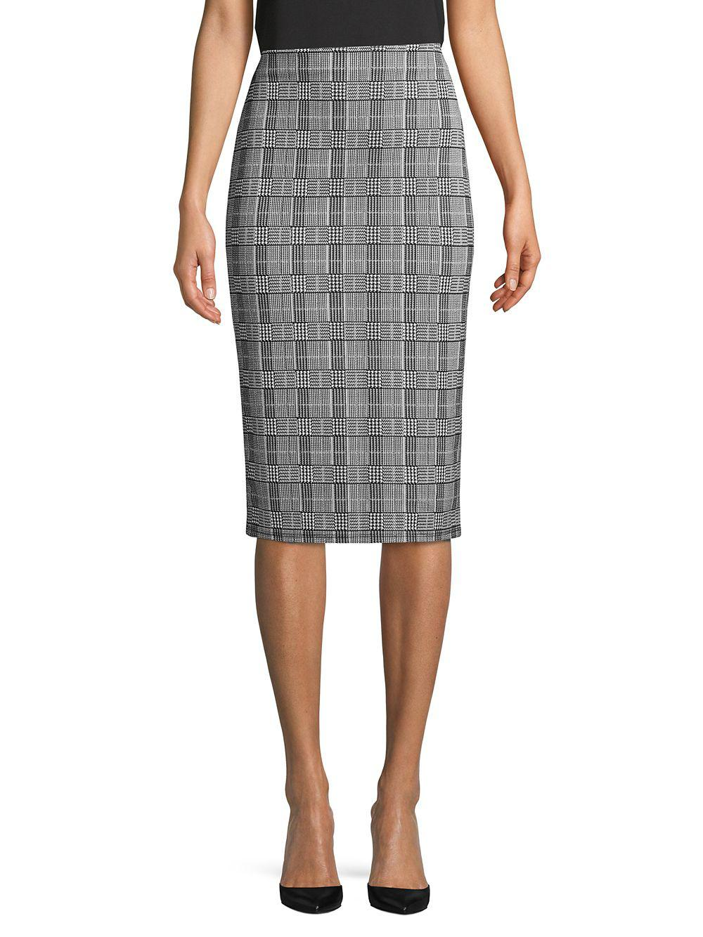 b11dfe977700ce Lyst - Dorothy Perkins Classic Houndstooth Skirt in Gray