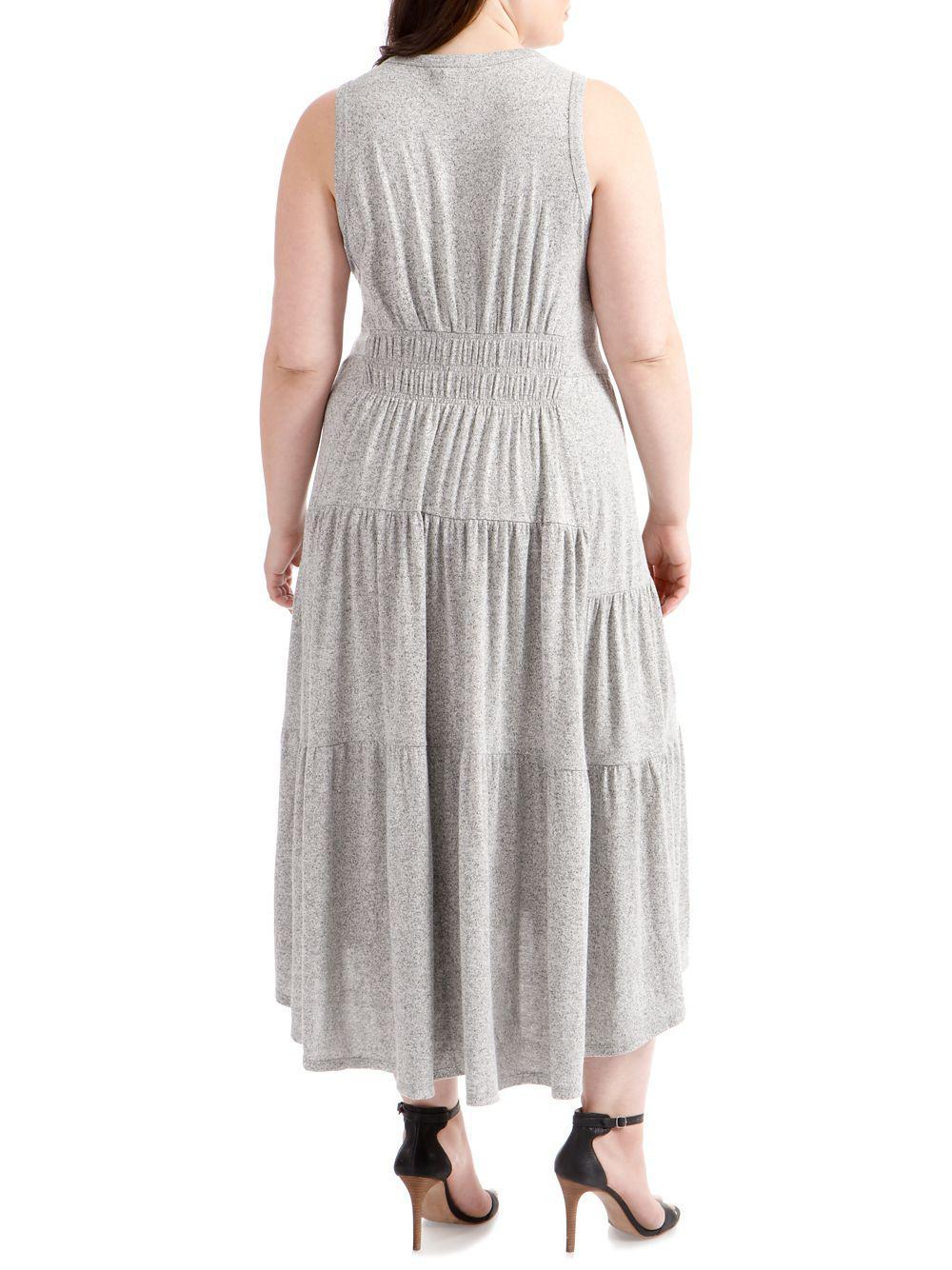 c037dab1da9 ... Gray Plus Open-back Smocked Dress - Lyst. View fullscreen